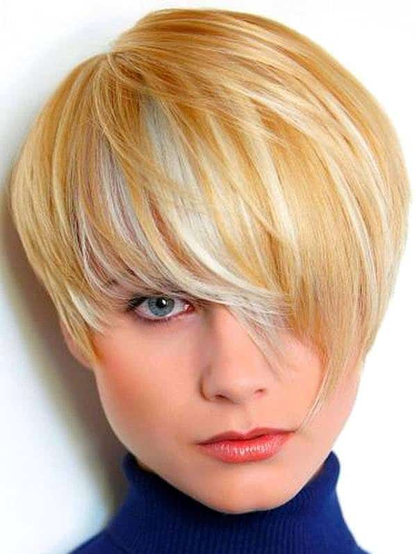 Short Round Face Haircut For Thick Hair With Bob