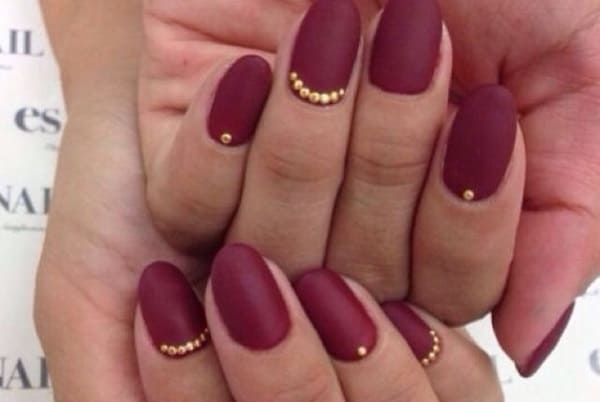 Simple Maroon Nail Designs for Party 2016-17