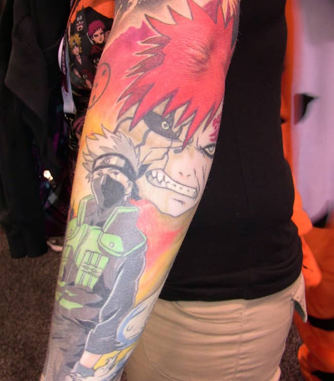 Stunning Naruto Half Sleeve Tattoo Designs