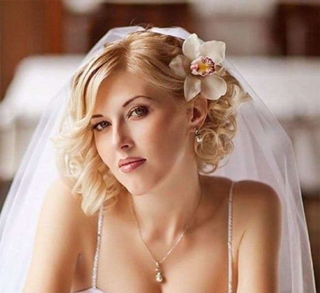 Stylish Bob Bridal Hairstyles for Wedding 2016-17