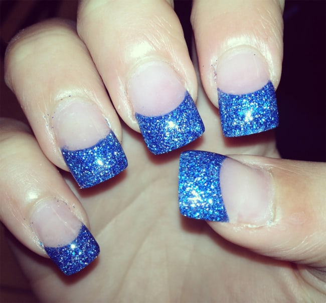 15 cool blue nail designs that will inspire you sheideas stylish nail art designs in blue color prinsesfo Choice Image
