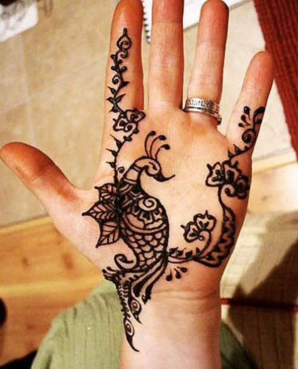 Stylish Peacock Henna Art Ideas for Women