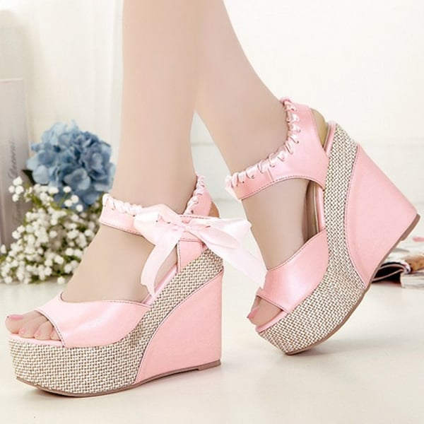 Summer Ankle Strap Platform Pumps Shoes for Woman