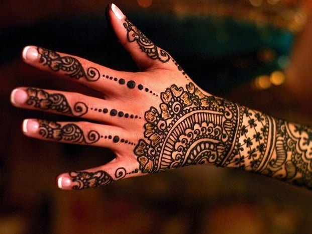 Traditional Indian Henna Designs on Back Hand 2016