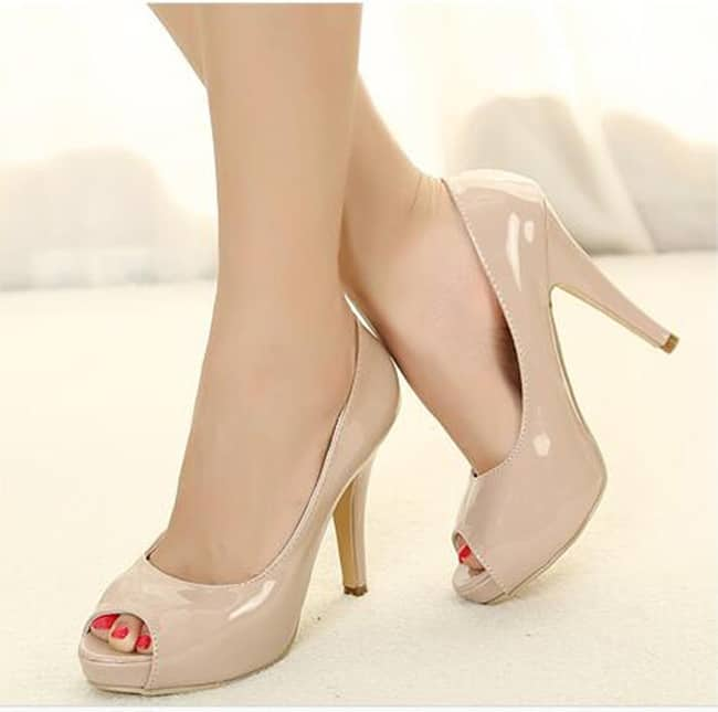 Trendy Open Toe High Heels Pumps for Christmas