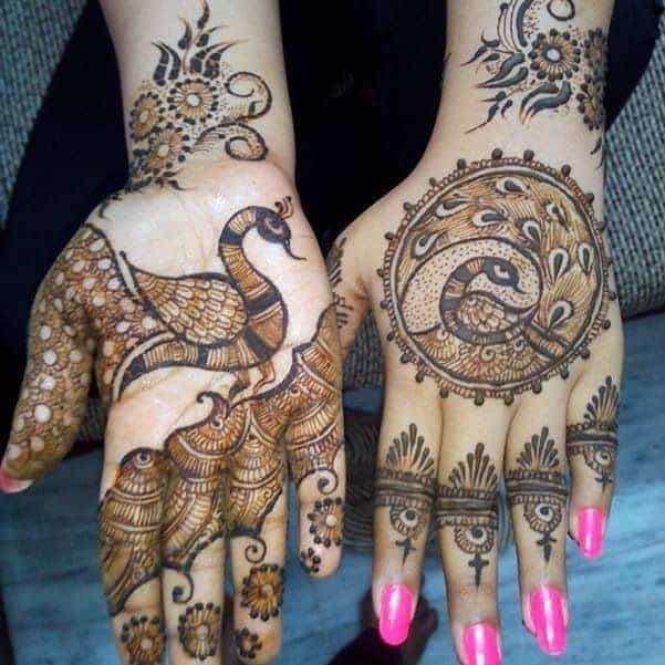 Peacock Henna Mehndi Designs and Patterns