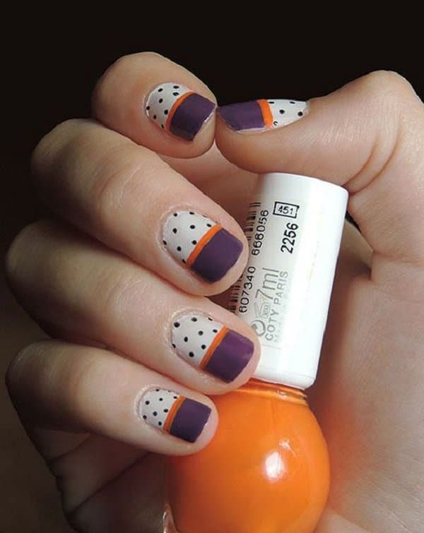 Wonderful Seasonal Fall Nails Art Designs