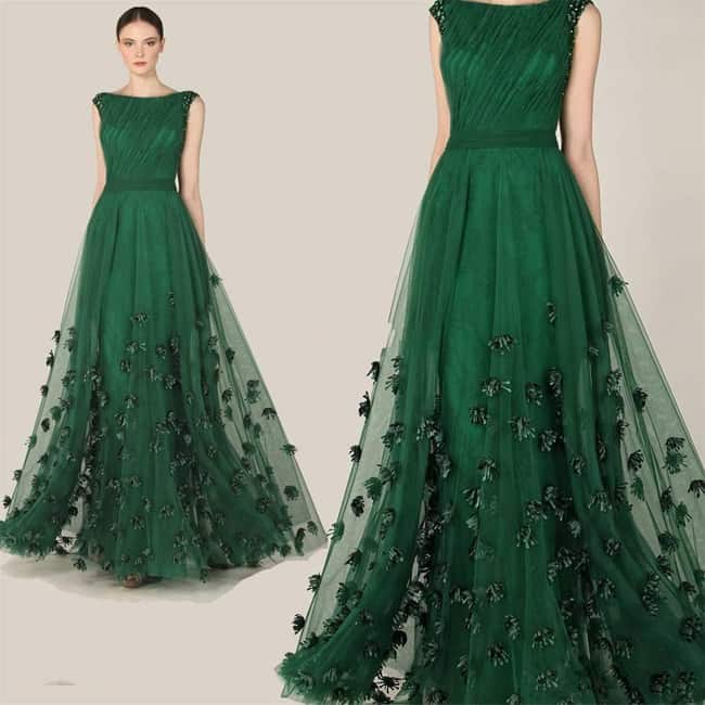 Amazing Emerald Green Occasion Dress Pictures