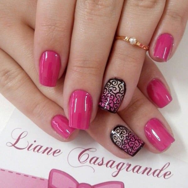 Amazing Pink Nail Art Designs for Girls