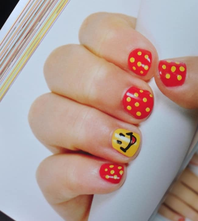 amazing-yellow-and-red-nail-design-trend-for-kid-girls