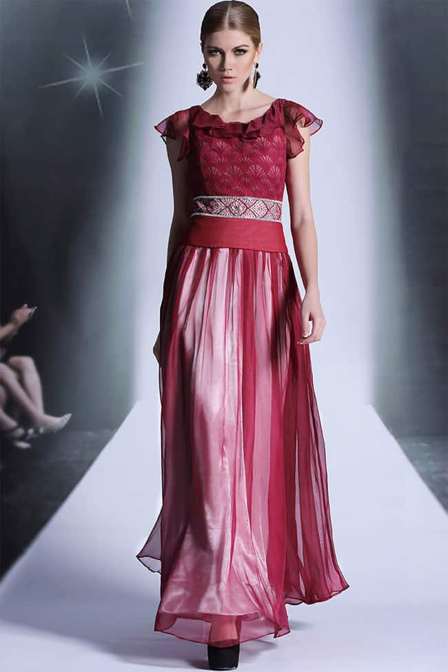 Attractive Red Formal Dress for Wedding Occasion