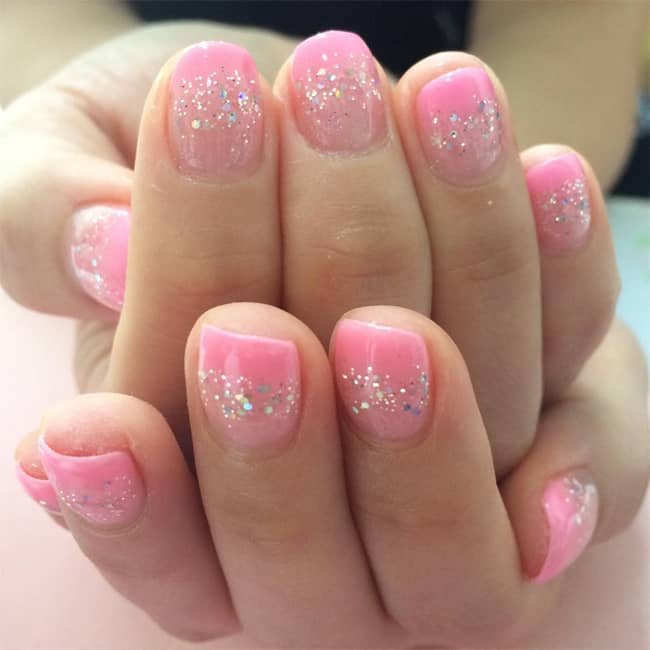Awesome Light Pink Nail Designing Pictures