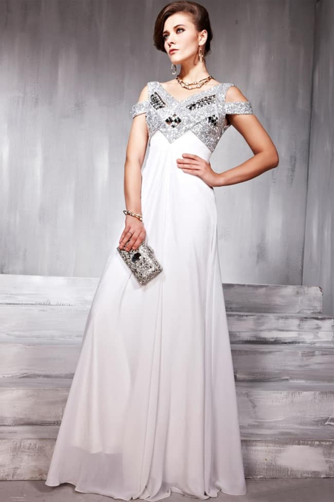 Beautiful White Cocktail Long Outfits for Wedding