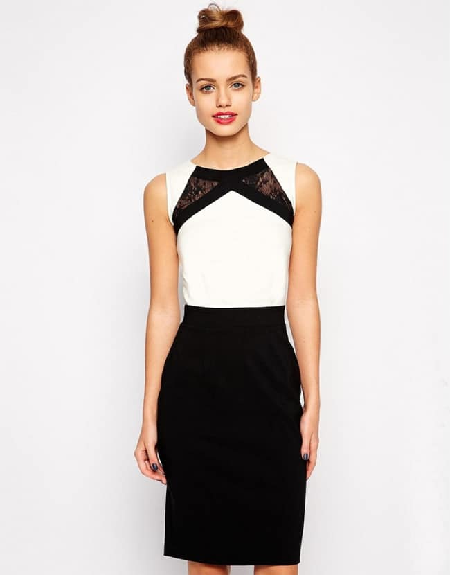 black-and-white-petite-dress-ideas-for-ladies