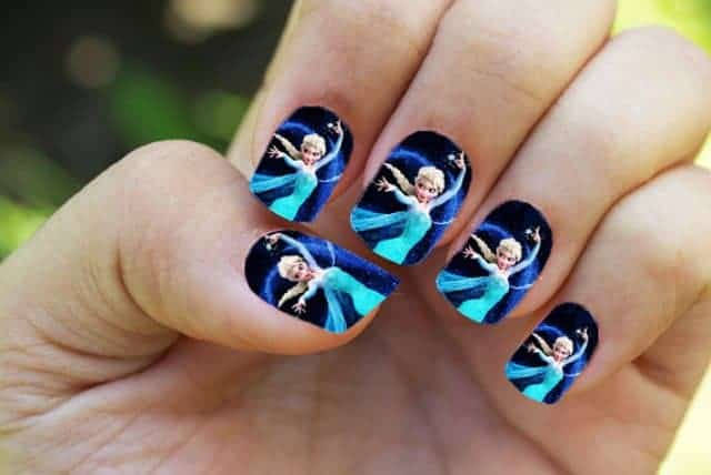 Cool Kids Nail Art Ideas for Party - 15 Most Attractive Kids Nail Designs For Inspiration - SheIdeas