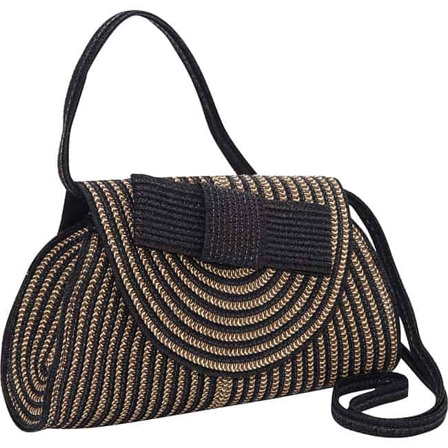 Cool Magid Straw Stripe Paper Bow Handbags
