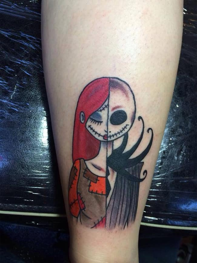 Cool Nightmare Before Christmas Tattoo Ideas