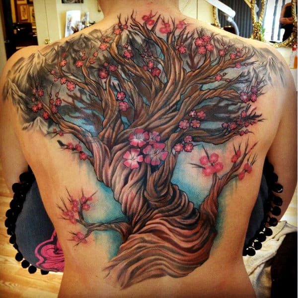flowers-tree-cover-up-tattoo-ideas-for-back