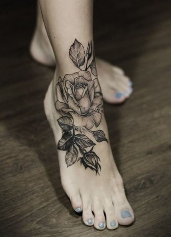 20 superb flower tattoo designs for women sheideas. Black Bedroom Furniture Sets. Home Design Ideas