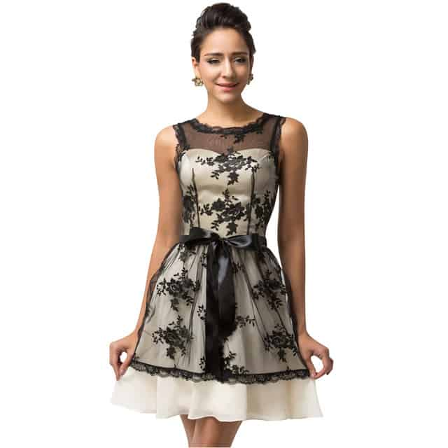 Girls Sleeveless Lace Short Christmas Dresses 2016