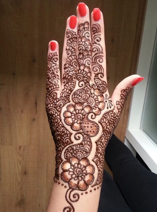 20 Stylish and Lovely Henna Designs for Hands - SheIdeas