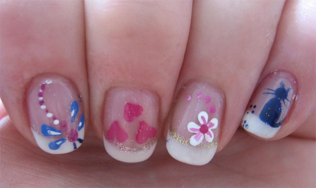 hearts-and-flowers-nail-designs-for-little-kids