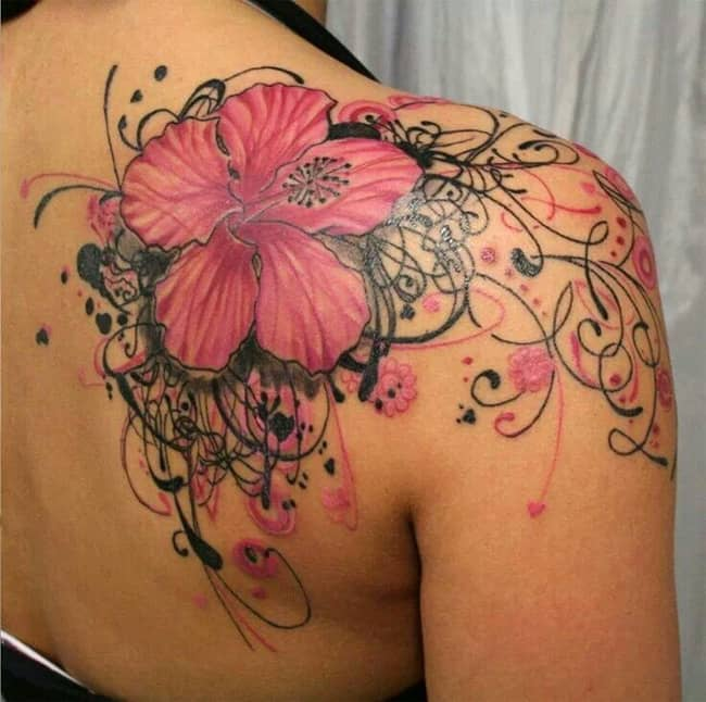 Hibiscus cover up tattoo designs for women sheideas for Cover up tattoos for women