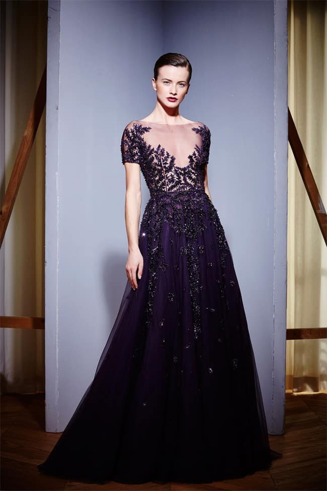 Latest Bridal Wear Purple Gowns for Winter 2016-17