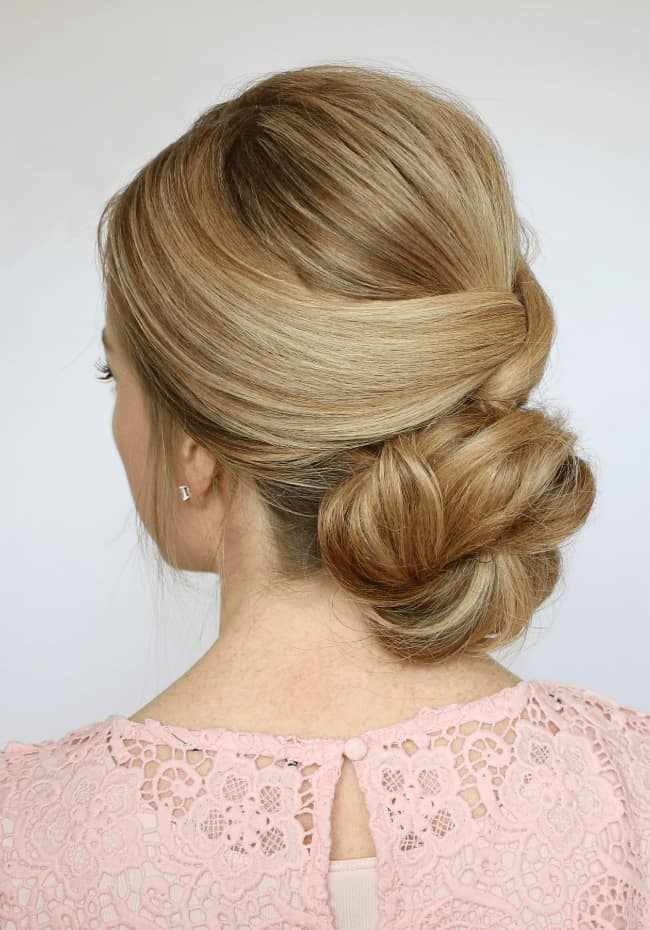 low-bun-graduation-hairstyle-ideas-for-wedding