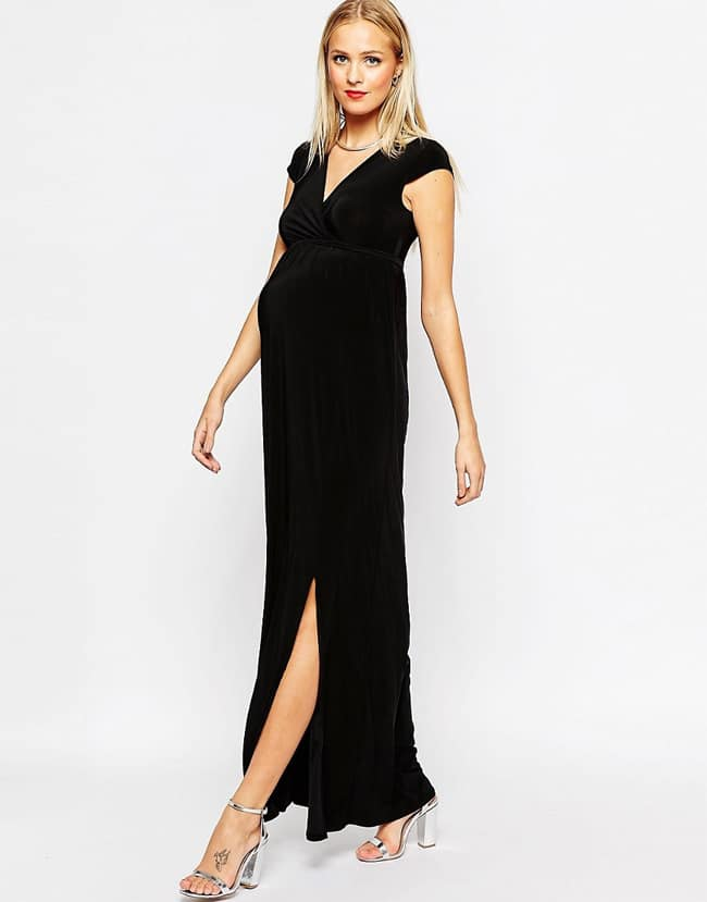 Maternity Special Occasion Black Long Dresses