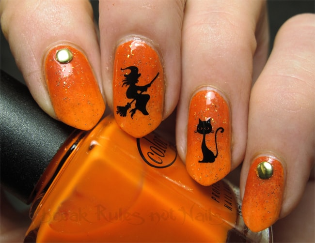 new-orange-halloween-nails-art-trend-for-inspiration