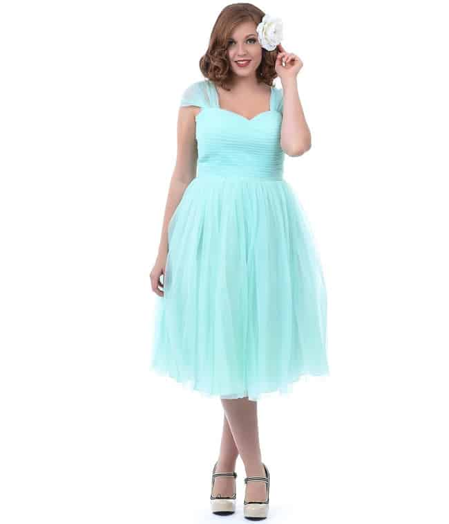 Plus Size Casual Mint Green Special Occasion Dresses