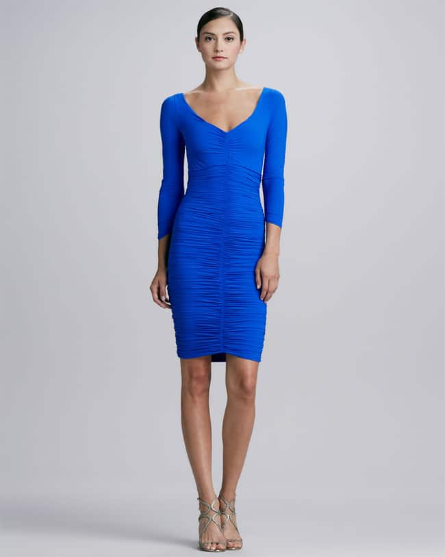 royal-blue-petite-cocktail-dresses-with-sleeves