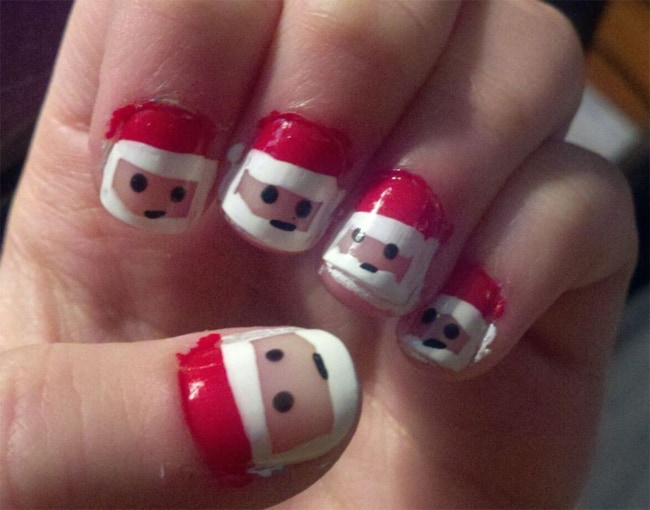 santa-kids-nail-polish-ideas-for-christmas