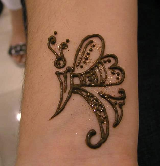 Butterfly Tattoos Simple Henna Design