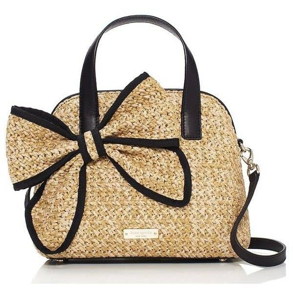 Stylish Kate Spade Black Straw Handbag Images
