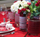 Valentines Day Diy Flower Decorations With Glasses Vase