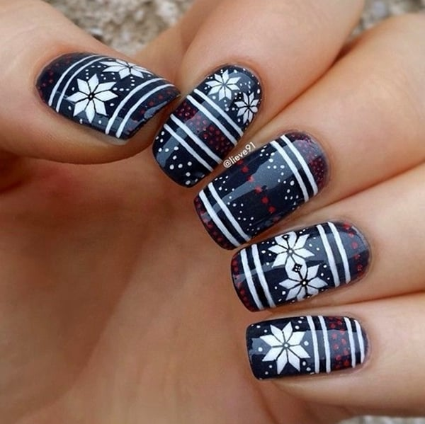 Wonderful Winter Nails Art Designs 2016 - 15 Cute Winter Nail Designs For Happy New Year - SheIdeas
