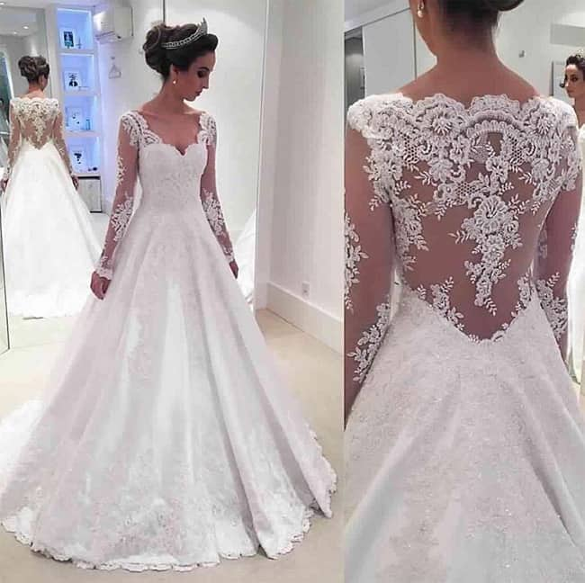 a-line-long-sleeve-wedding-lace-appliques-dress-2017