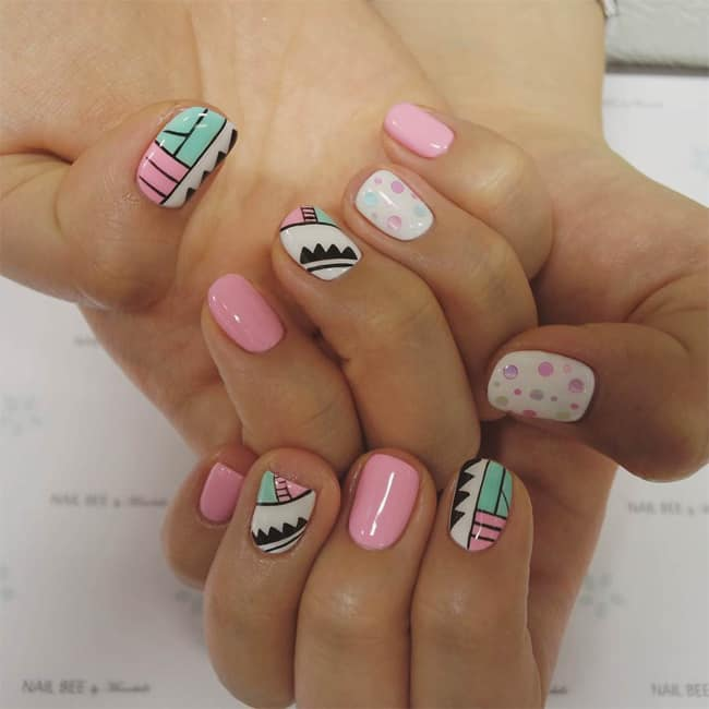 Amazing Light Pink Round Nail Design Ideas - 15 Cute Round Nail Designs For Inspiration - SheIdeas