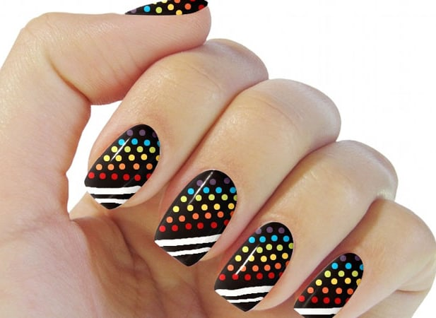 attractive-neon-style-round-nails-design-images
