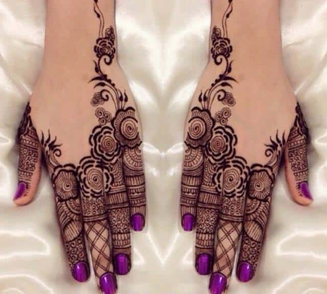 A Roundup of Latest Pakistani Henna Designs 2017 - SheIdeas