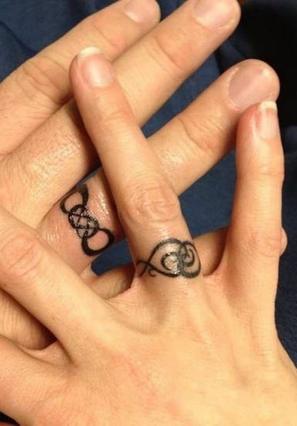20 Magnificent Wedding Ring Tattoos Ideas SheIdeas