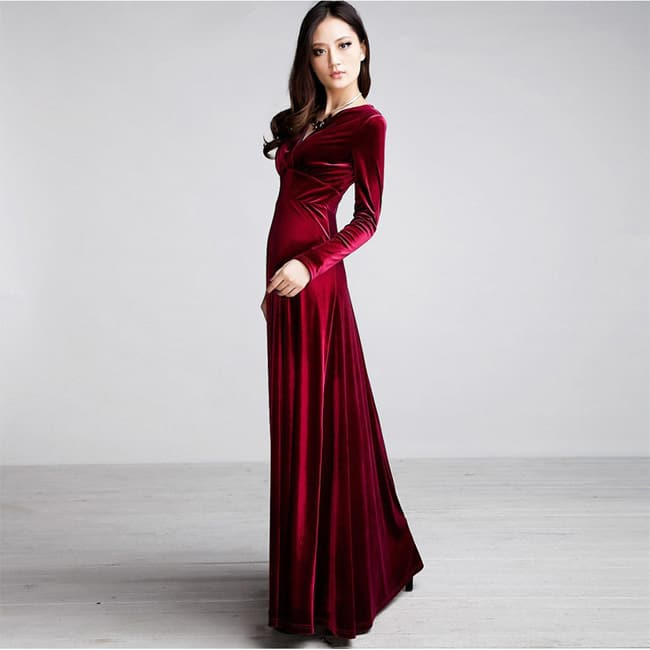 beautiful-winter-maxi-dresses-for-girls