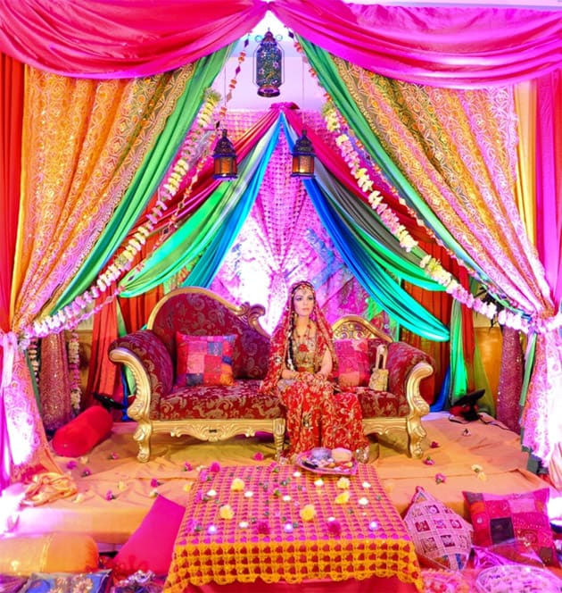Mehndi Stage Decoration Simple : Eye refreshing mehndi decoration ideas sheideas