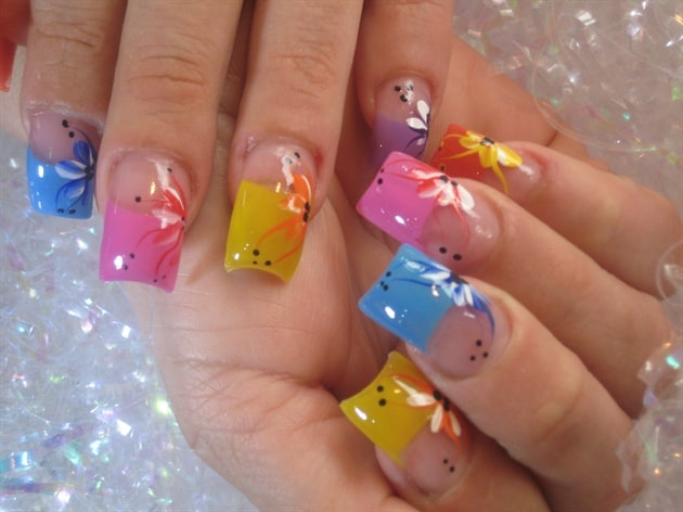 colorful-easter-acrylic-nails-ideas