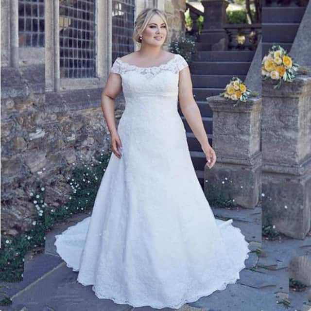 cool-plus-size-scoop-neckline-wedding-a-line-dresses-2016-17
