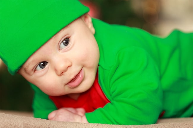 cute-baby-images-in-green-dress