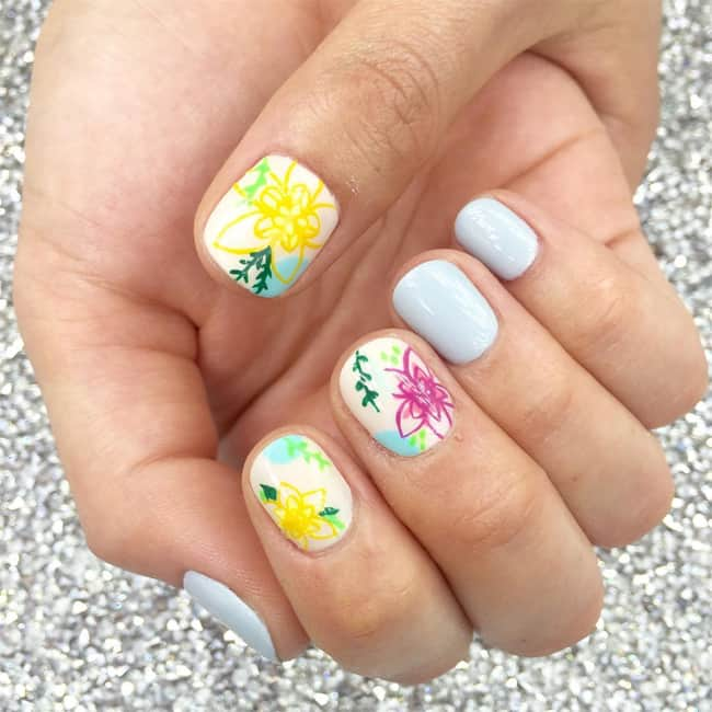 15 Nail Art Designs That Look Better On Short Nails: 15 Cute Round Nail Designs For Inspiration