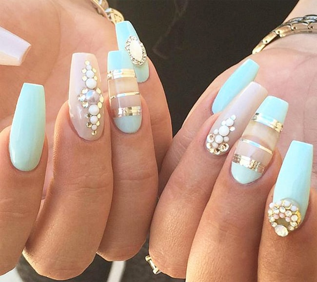 17 Cool Rhinestone Nail Designs For Inspiration